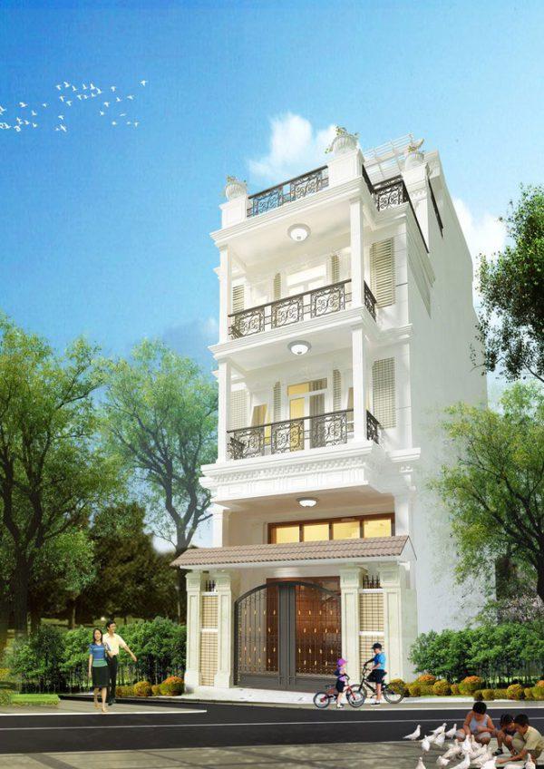 Thiết kế nhà lô phố phong cách tân cổ điển đẳng cấp