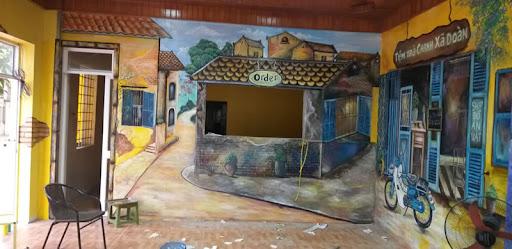 tranh tường quán trà chanh