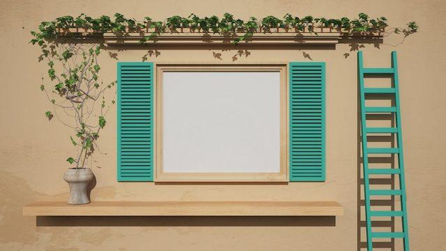 vẽ cửa sổ trên tường