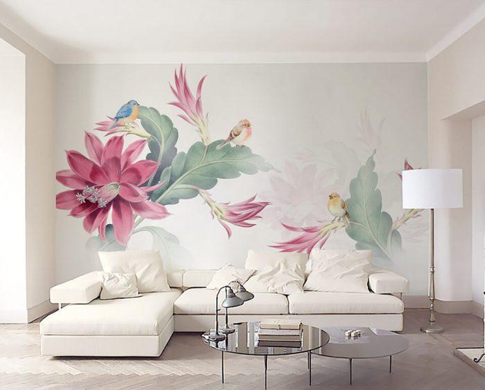 vẽ tranh tường hoa