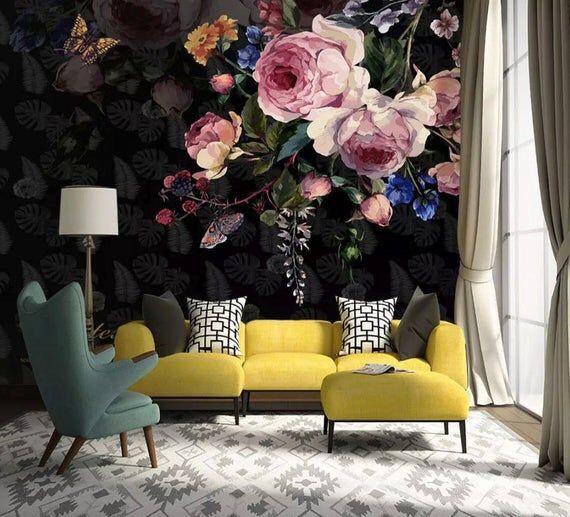 vẽ tranh tường hoa hồng