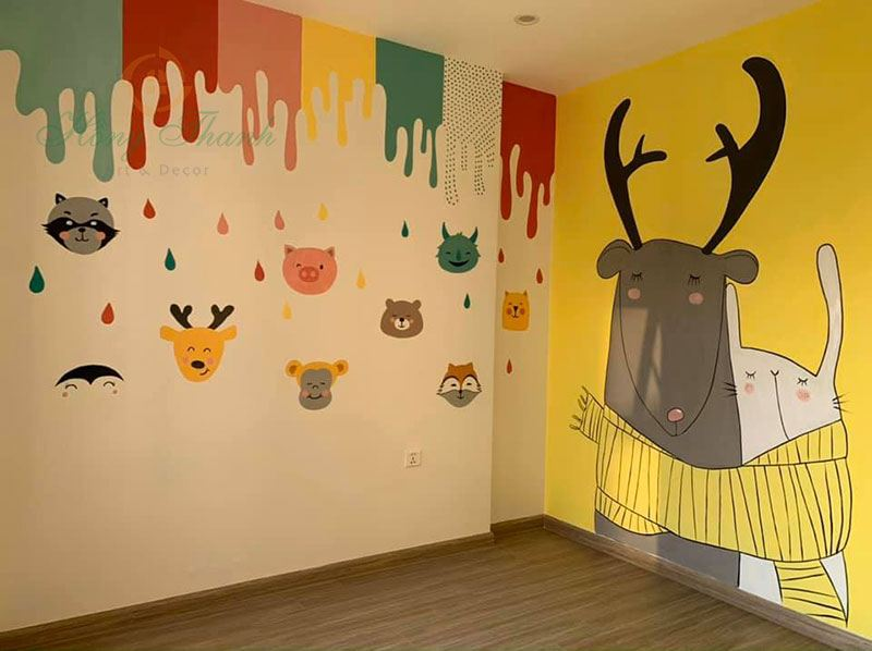 vẽ tường cute